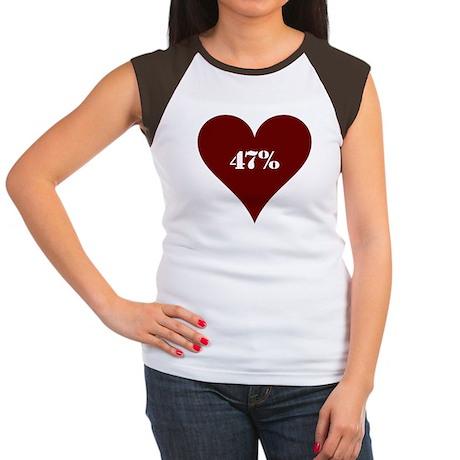 47% Hot Love Women's Cap Sleeve T-Shirt