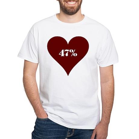 47% Hot Love White T-Shirt