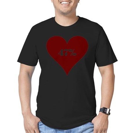 47% Hot Love Men's Fitted T-Shirt (dark)