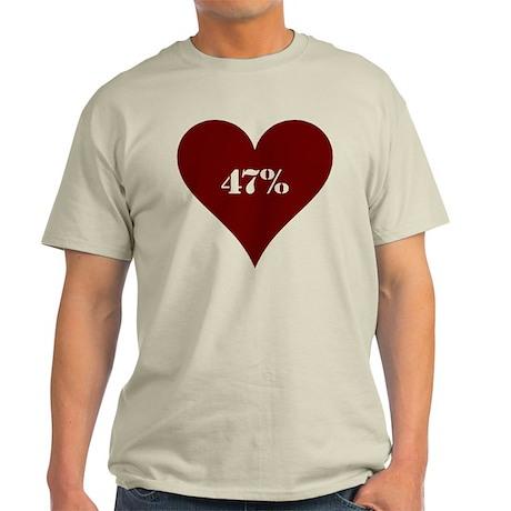 47% Hot Love Light T-Shirt