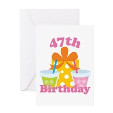 47th Birthday Party Gift Greeting Card
