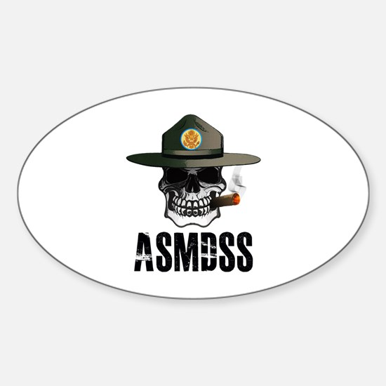ASMDSS Skull Logo Sticker (Oval)