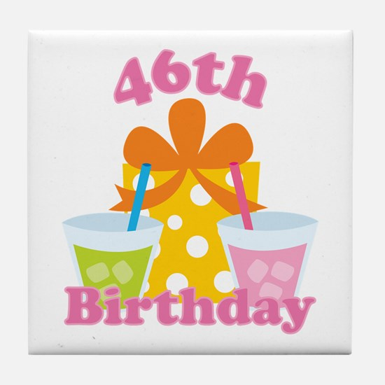 46th Birthday Party Tile Coaster