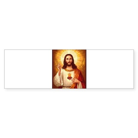 Sacred Heart of Jesus Sticker (Bumper)