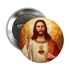 """Sacred Heart of Jesus 2.25"""" Button (10 pack)"""
