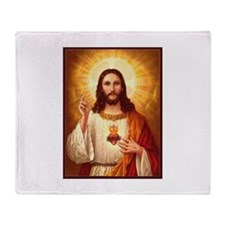 Sacred Heart of Jesus Throw Blanket