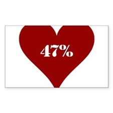 47% Red Love Decal
