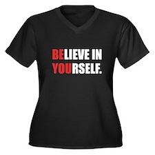 Believe in Yourself Women's Plus Size V-Neck Dark
