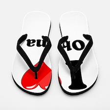I Heart Love Obama.png Flip Flops