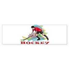 Hockey player Bumper Sticker