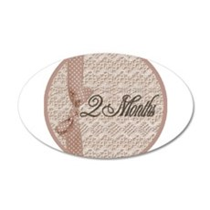 Vintage Lace Milestone 2 Months Wall Decal