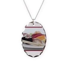 Sushi Necklace Oval Charm