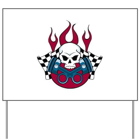 Fire Racing Yard Sign