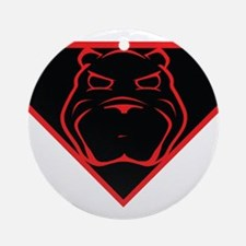 Super Angry Bear Ornament (Round)