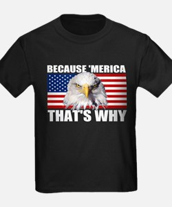 Because MERICA Thats Why US Flag American Eagle Ki