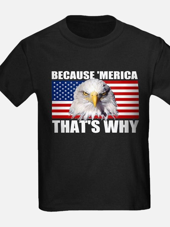 Because MERICA Thats Why US Flag American Eagle Ki