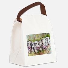 Piglets, Animal art! Canvas Lunch Bag