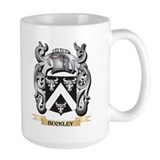 Buckley coat of arms Large Mugs (15 oz)
