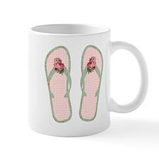 Vintage Rose Flip Flops Mug