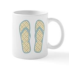 Vintage Polka Dot Flip Flops Mug