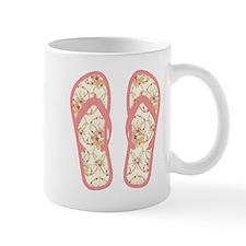 Vintage Pink Polka Dot Flip Flops Mug