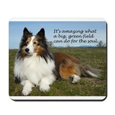 Big Green Field Mousepad