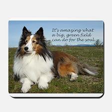 Big Green Field Mousepad