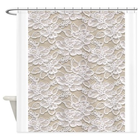 Vintage Floral Lace Shower Curtain By Printedlittletreasures
