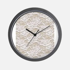 Vintage Floral Lace Wall Clock