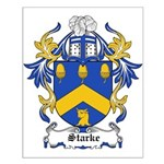 Starke Coat of Arms Small Poster