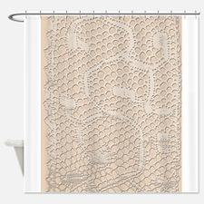 Textured Cream Shower Curtains | Textured Cream Fabric Shower ...