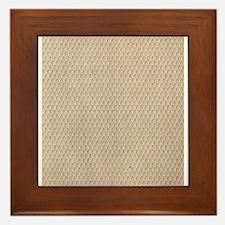 Vintage Fish Net Lace Framed Tile