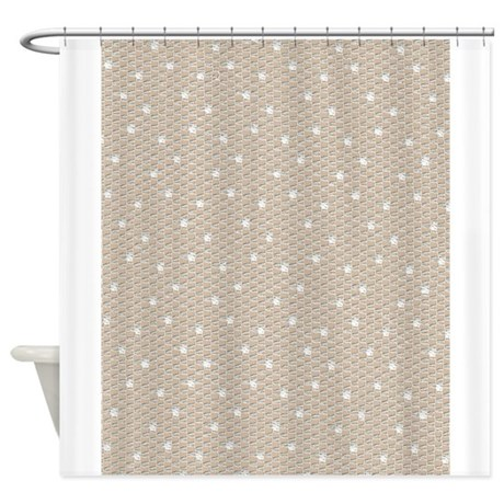 Vintage Lace Material Shower Curtain By PrintedLittleTreasures