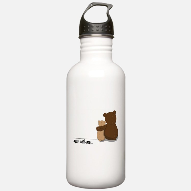 Bear with Me Design Water Bottle