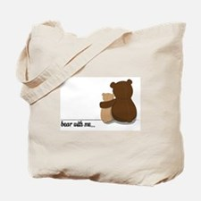 Bear with Me Design Tote Bag