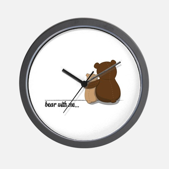 Bear with Me Design Wall Clock