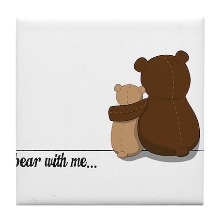 Bear with Me Design Tile Coaster
