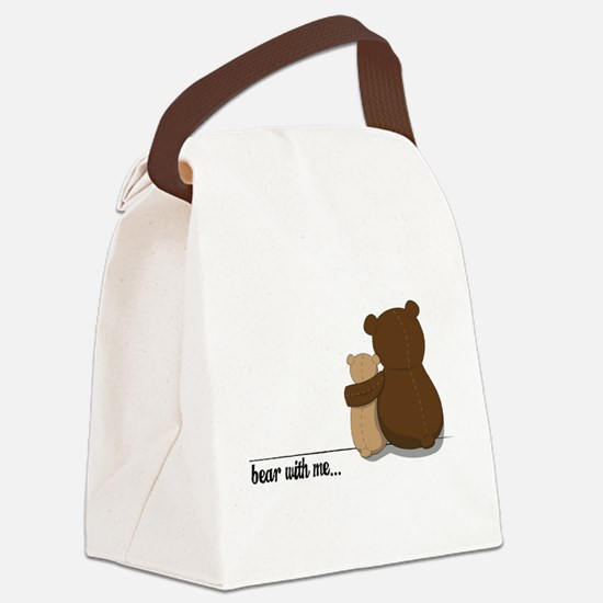 Bear with Me Design Canvas Lunch Bag