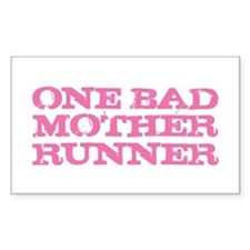 One Bad Mother Runner Pink Decal