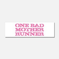 One Bad Mother Runner Pink Car Magnet 10 x 3