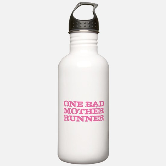 One Bad Mother Runner Pink Water Bottle