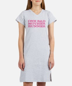 One Bad Mother Runner Pink Women's Nightshirt