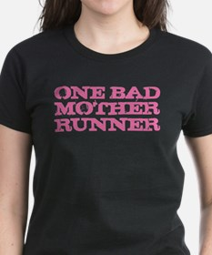 One Bad Mother Runner Pink Tee