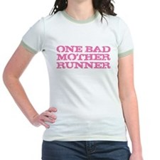One Bad Mother Runner Pink T