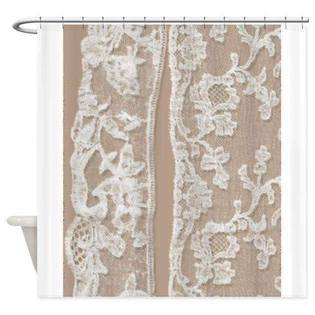 White Vintage Kitchen Curtains: Vintage White Lace Shower Curtain By PrintedLittleTreasures