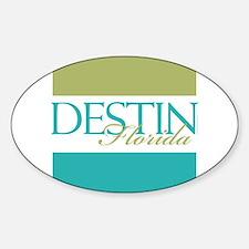 Destin Florida Sticker (Oval)