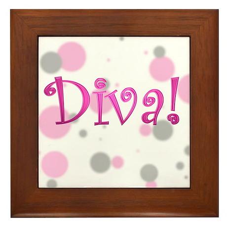 """DIVA """"bubbles"""" Framed Tile"""
