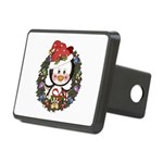 Christmas Penguin Holiday Wreath Rectangular Hitch