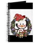 Christmas Penguin Holiday Wreath Journal