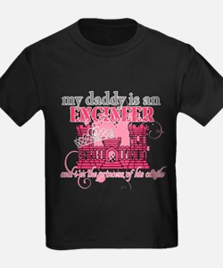 Daddy Engineer pink T-Shirt